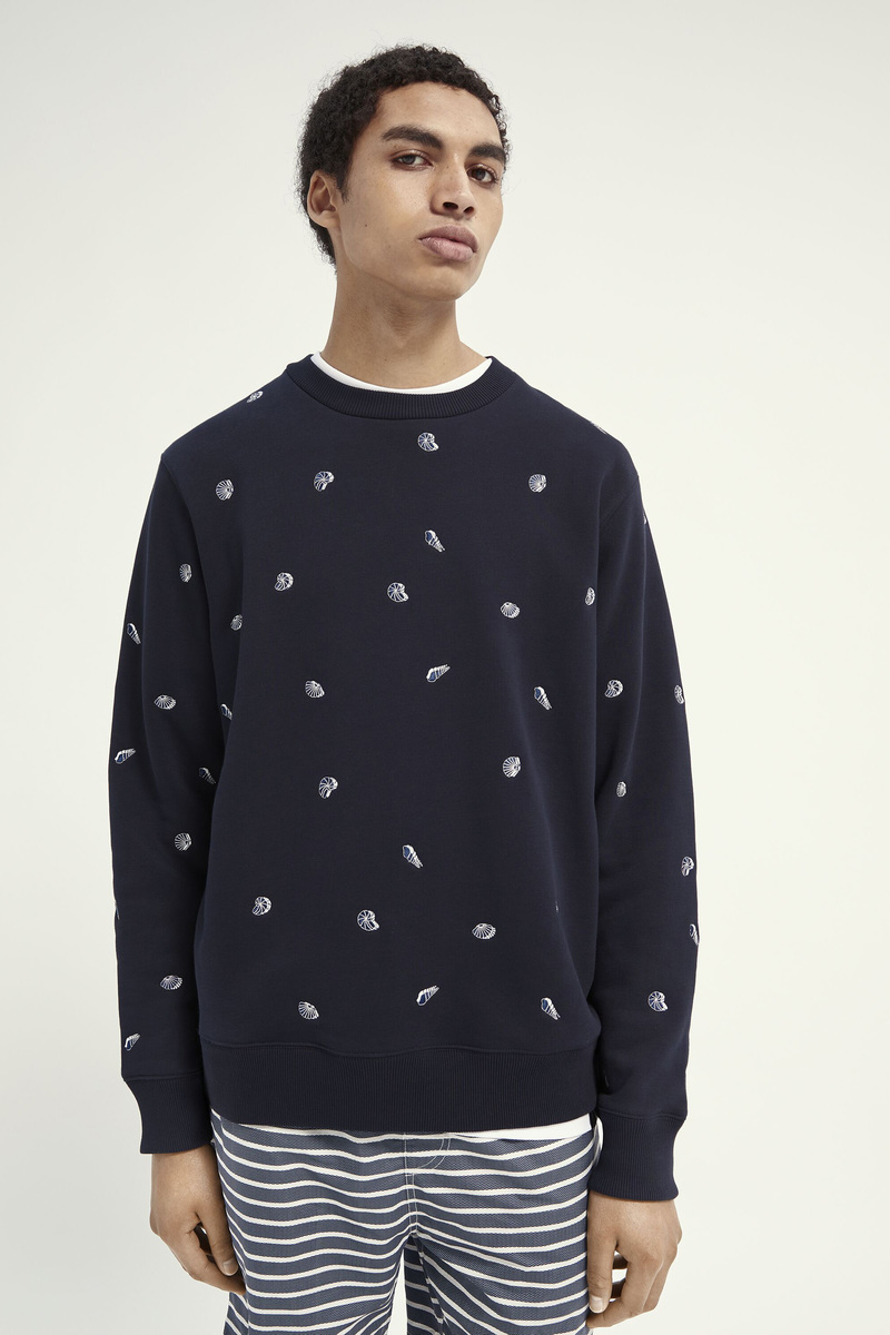 Scotch and Soda Sweater Navy Print