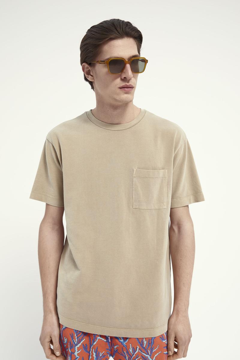 Scotch and Soda T-Shirt Garment Dye Beige