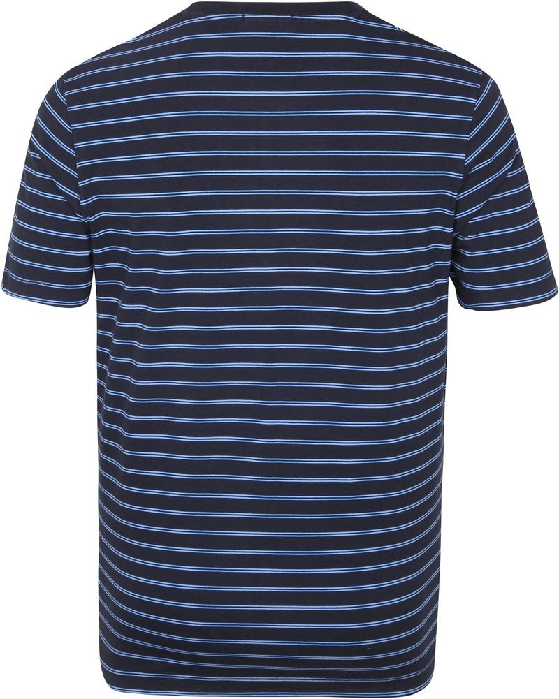 Scotch & Soda T-Shirt Streep Donkerblauw