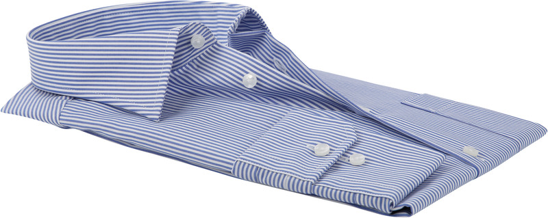 Seidensticker Hemd Bügelfrei Modern Blau Streifen