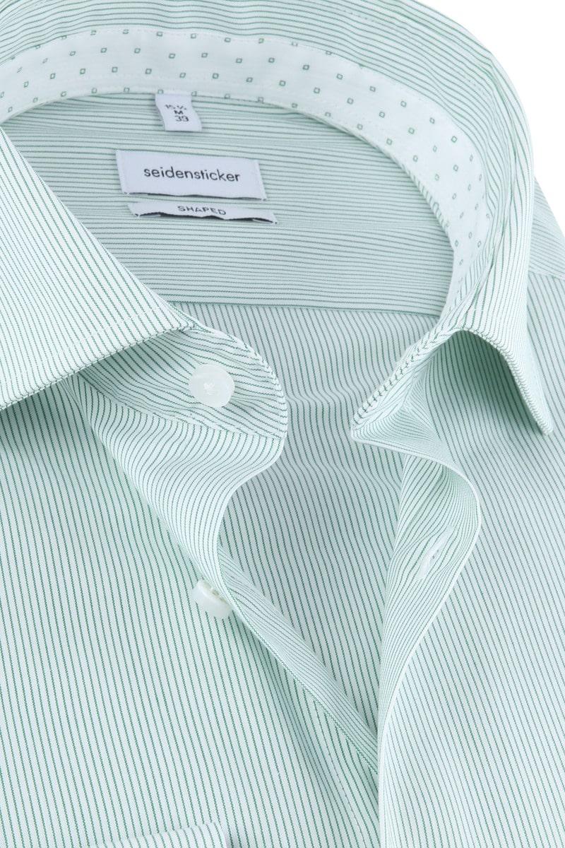 Seidensticker Hemd Streifen Grün Foto 1