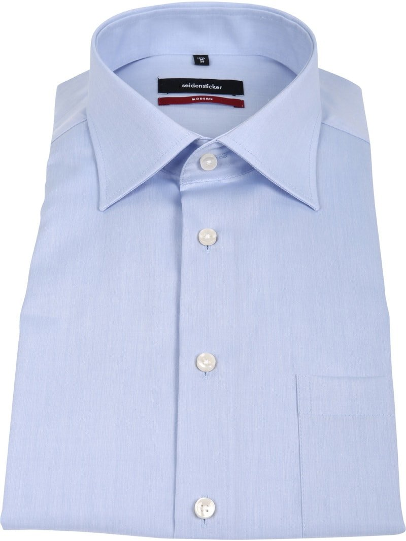 Seidensticker Non Iron Light Blue Modern-Fit SS photo 3