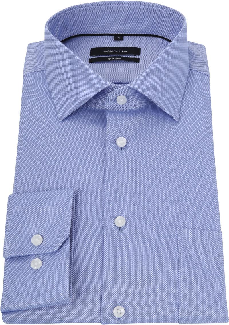 Seidensticker Overhemd CF Blauw foto 2