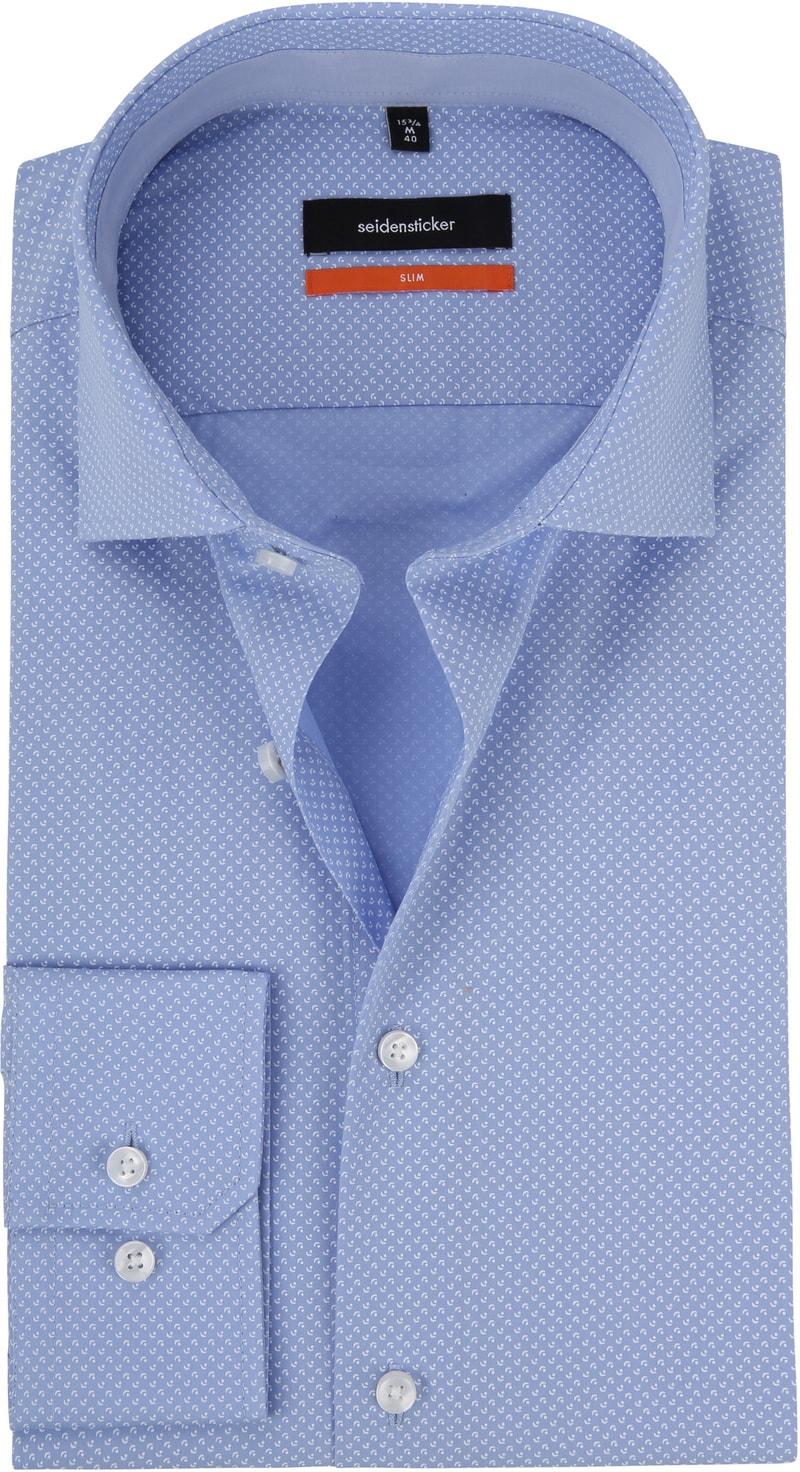 Seidensticker Overhemd Dessin Blauw foto 0