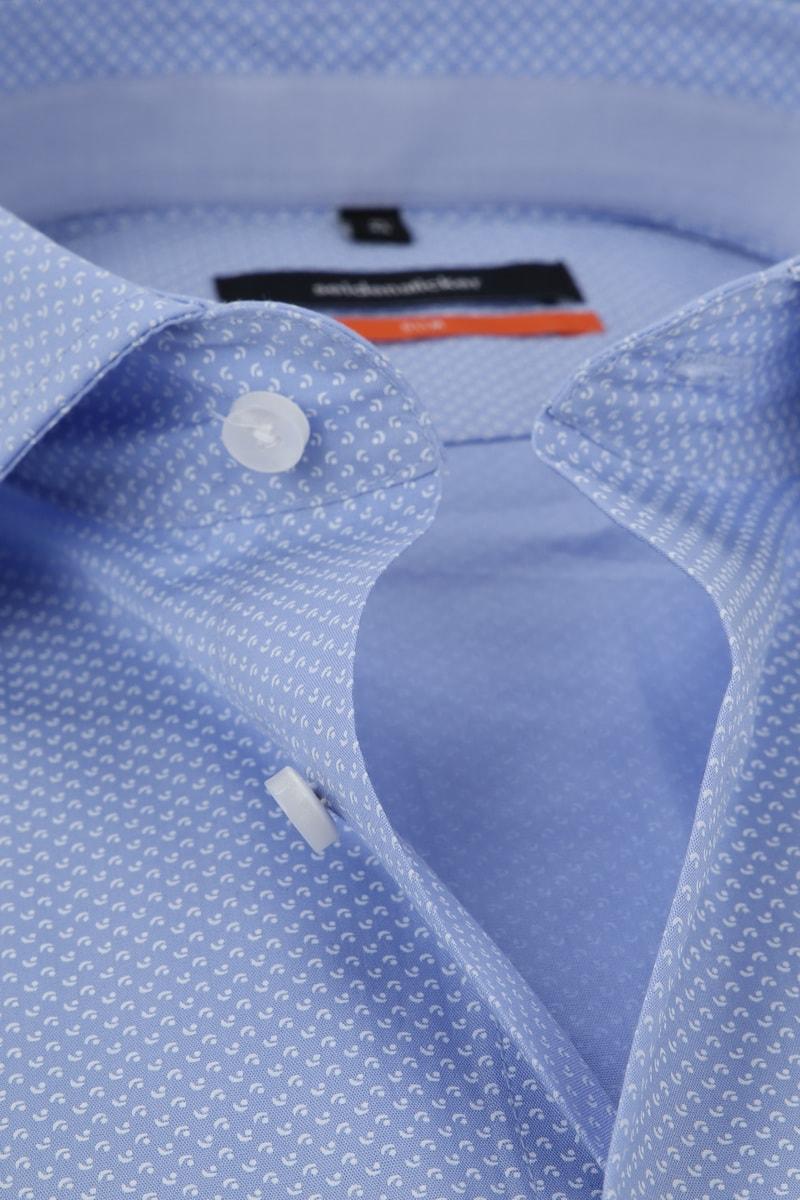 Seidensticker Overhemd Dessin Blauw foto 1