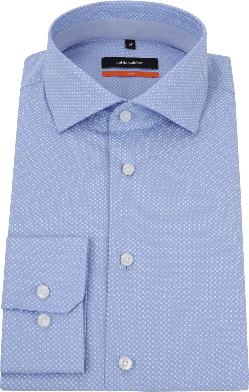 Seidensticker Overhemd Dessin Blauw foto 2