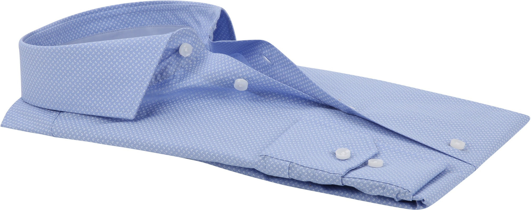 Seidensticker Overhemd Dessin Blauw foto 3