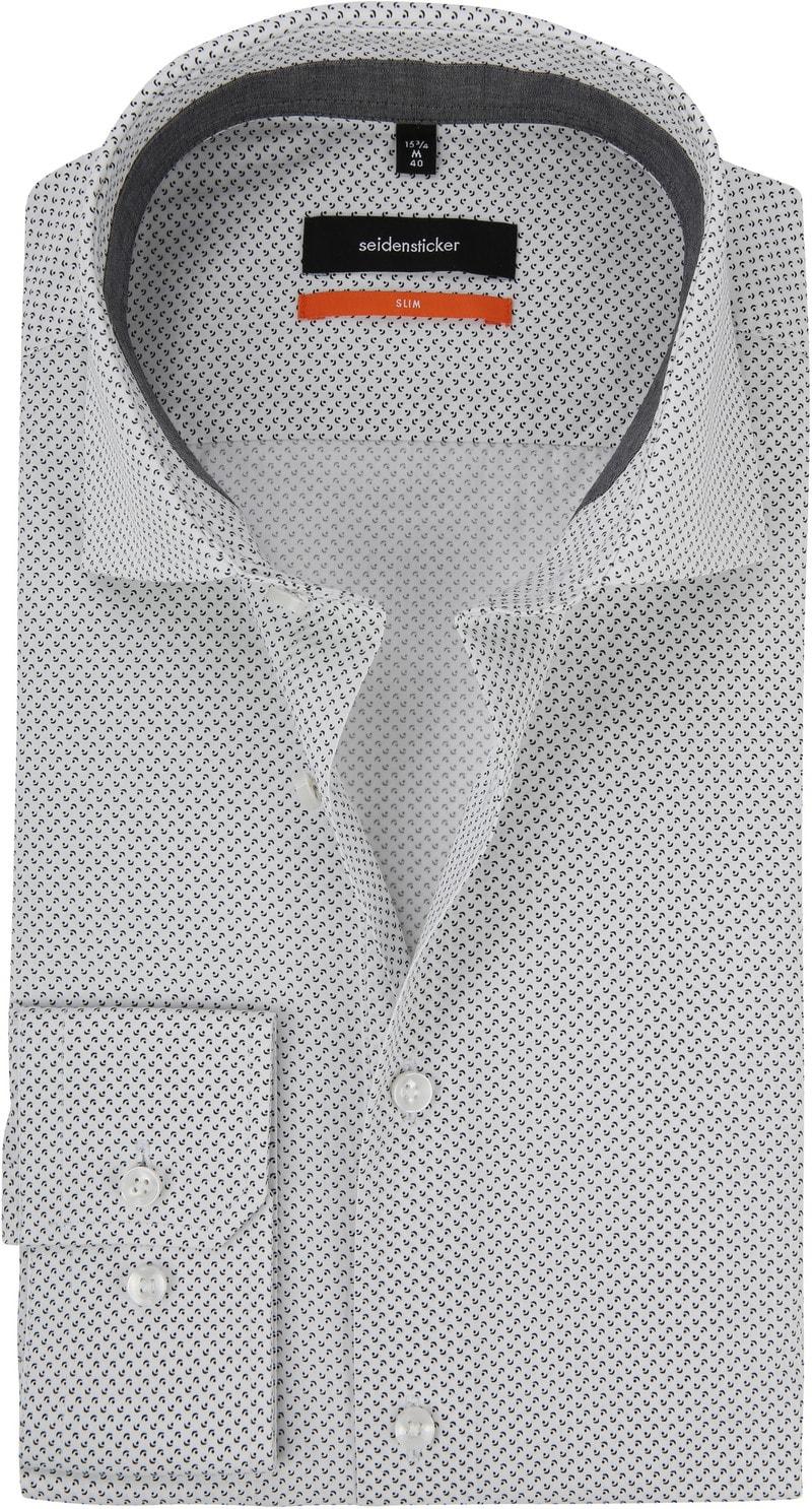 Seidensticker Overhemd Dessin Grijs foto 0