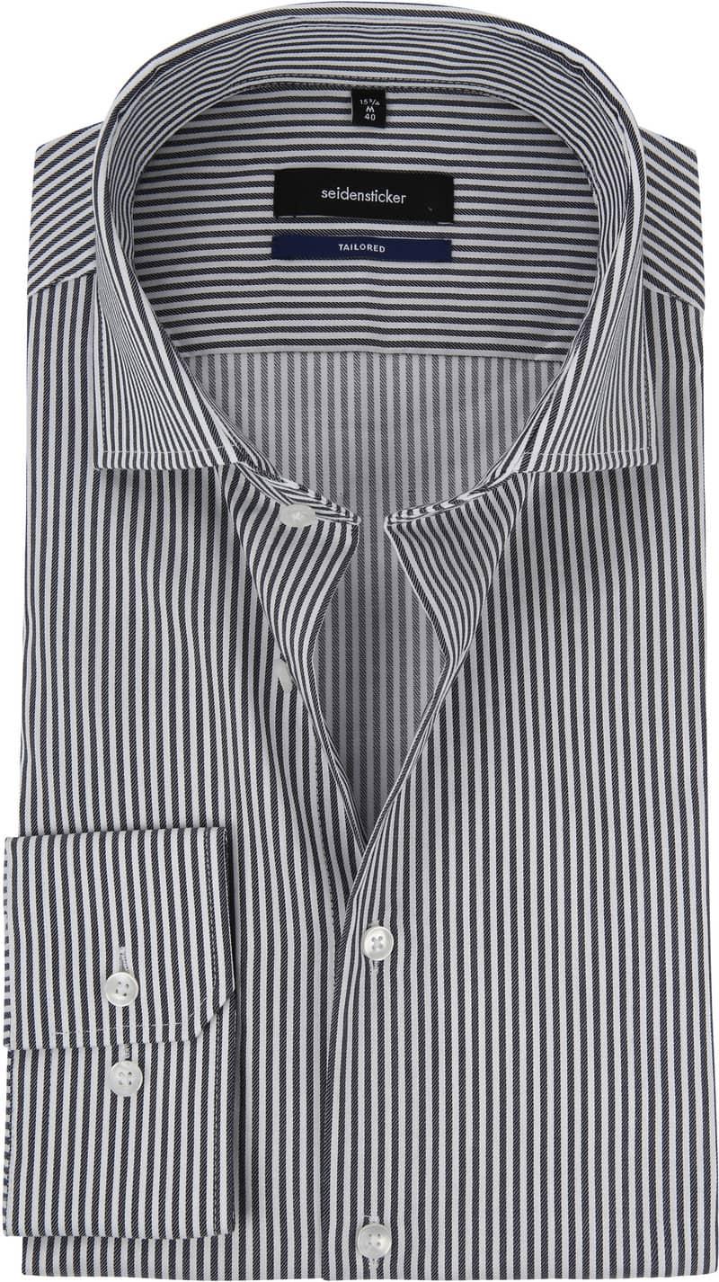 Seidensticker Overhemd Grijs Strepen foto 0