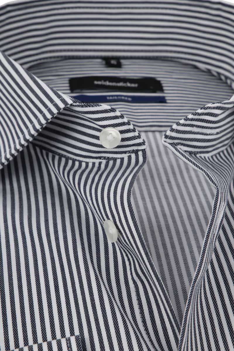 Seidensticker Overhemd Grijs Strepen foto 1
