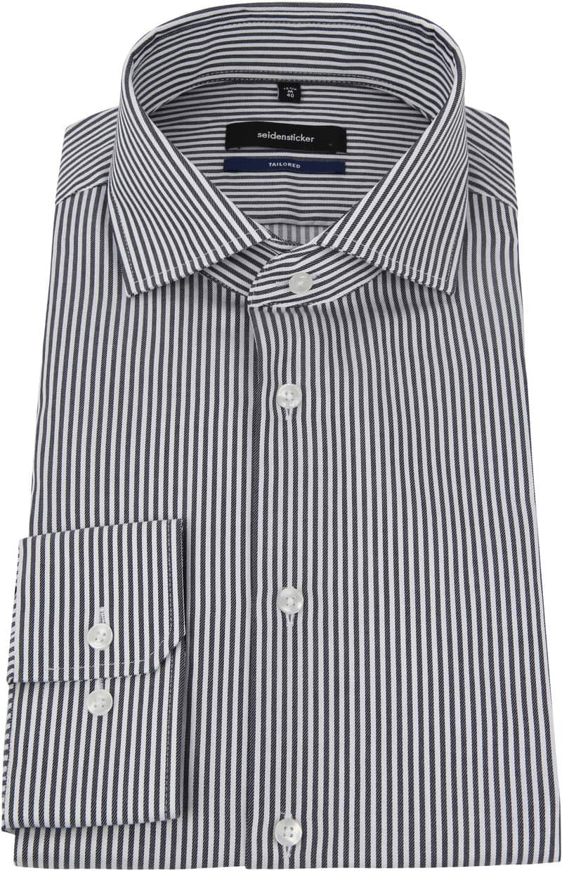 Seidensticker Overhemd Grijs Strepen foto 2