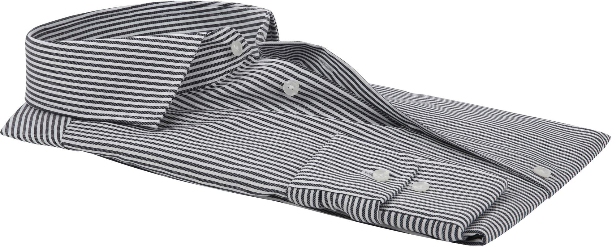 Seidensticker Overhemd Grijs Strepen foto 3