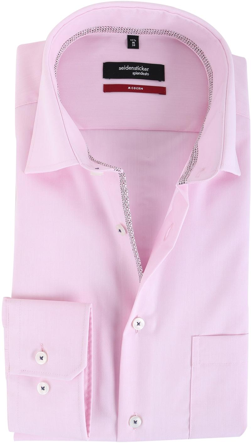 Seidensticker Overhemd Modern Fit Roze  online bestellen | Suitable