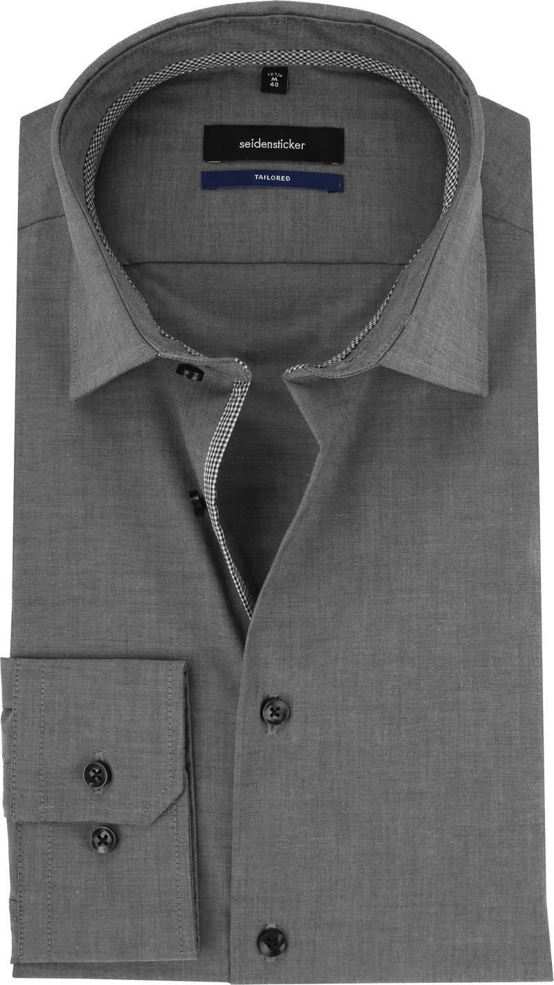 Seidensticker Overhemd Non Iron Antraciet foto 0