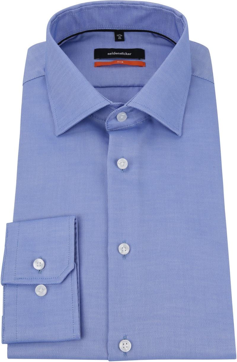 Seidensticker Overhemd Oxford Blauw foto 2