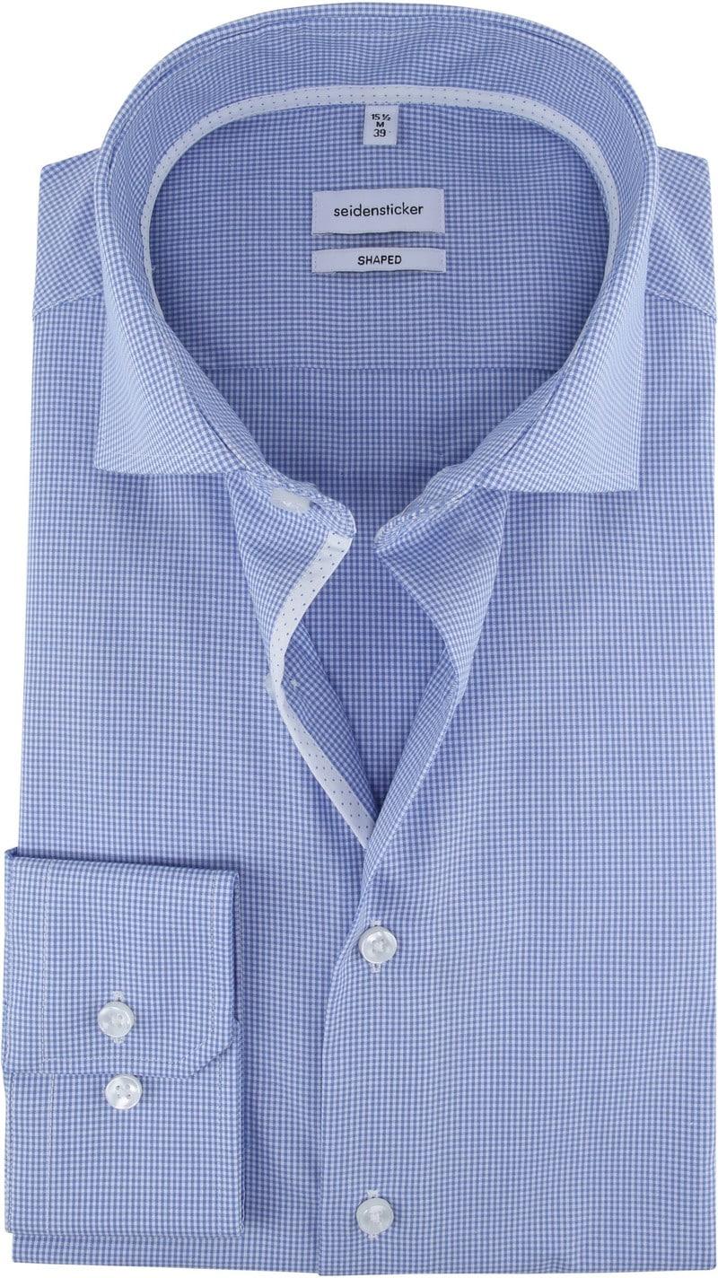 Seidensticker Overhemd Ruiten Blauw foto 0