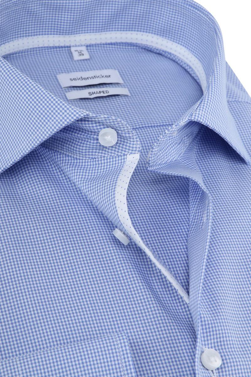Seidensticker Overhemd Ruiten Blauw foto 1