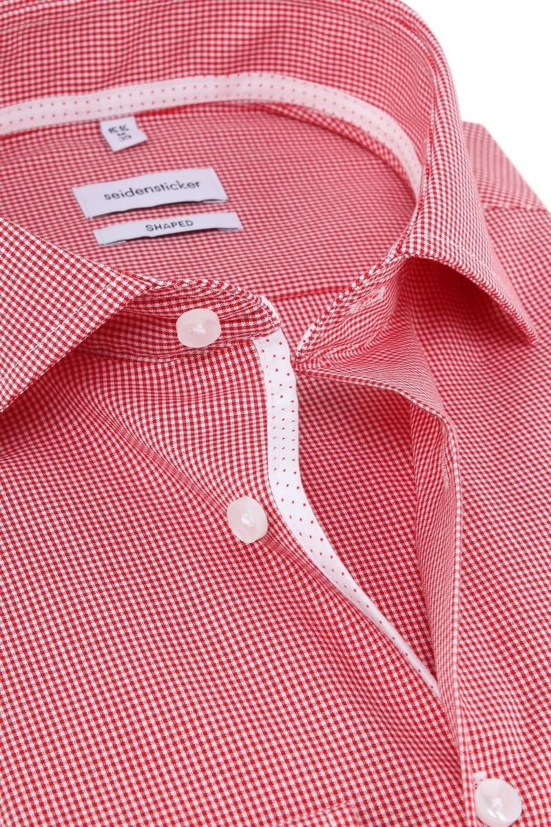 Seidensticker Overhemd Ruiten Rood foto 1