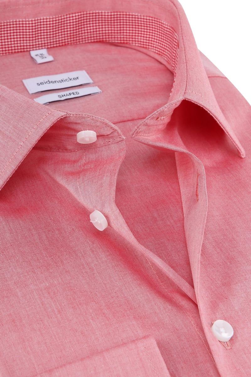 Seidensticker Overhemd Shaped Rood foto 1