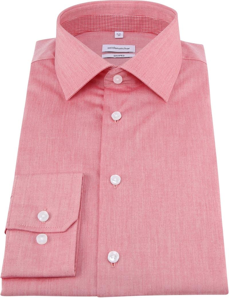 Seidensticker Overhemd Shaped Rood foto 2