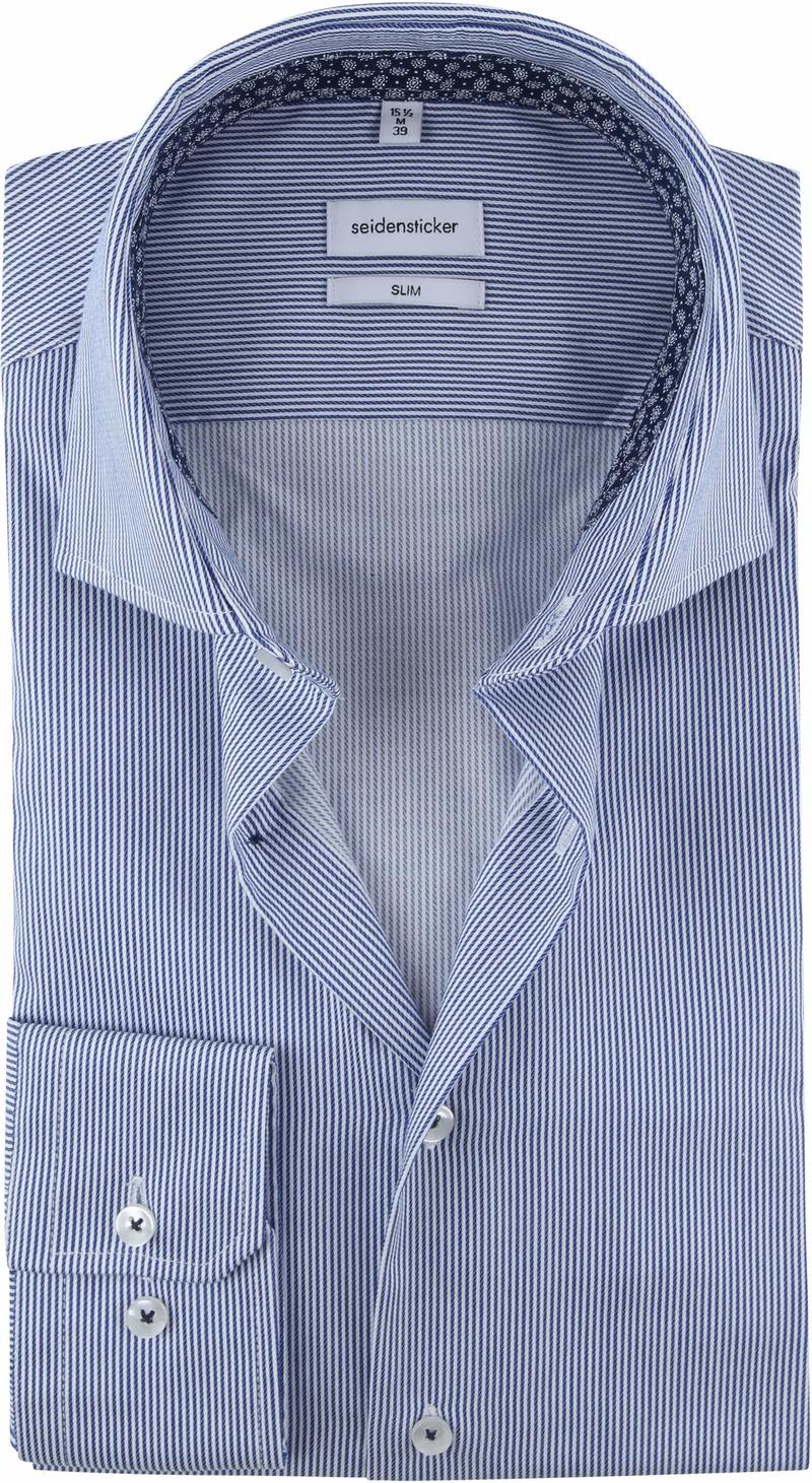 Seidensticker Overhemd Strepen Blauw foto 0