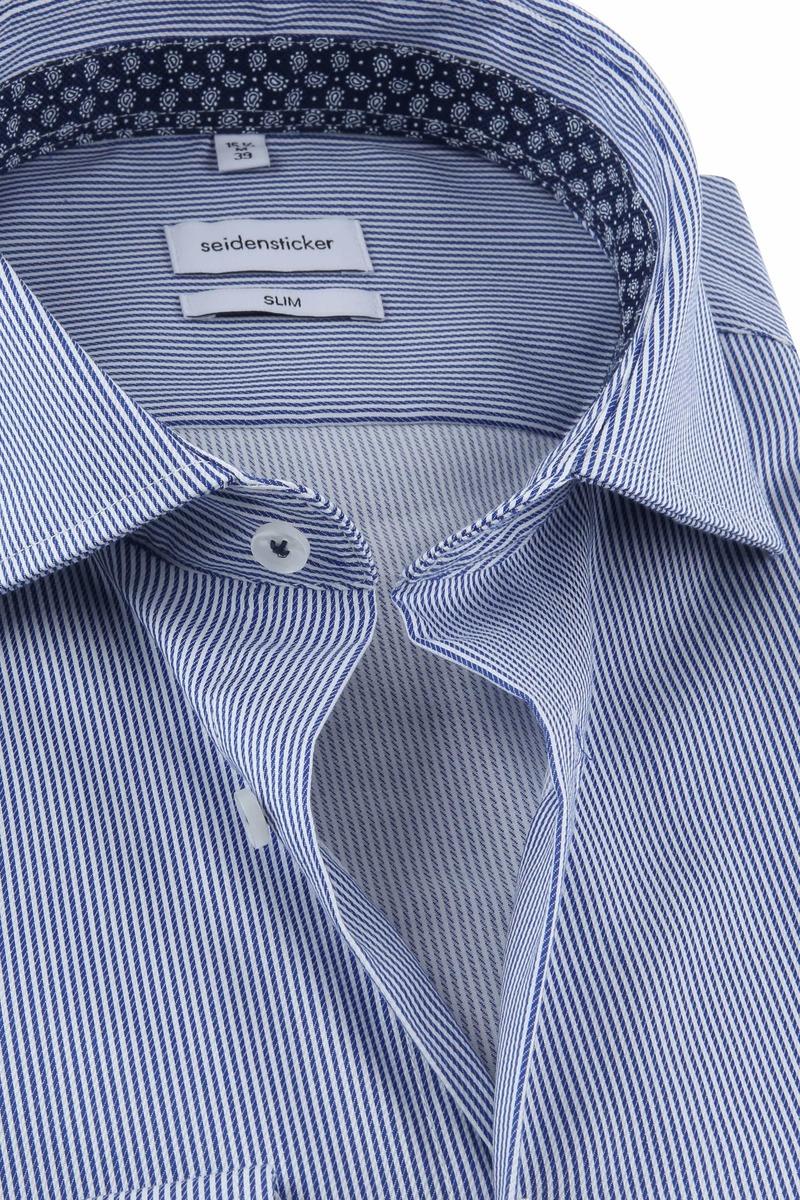Seidensticker Overhemd Strepen Blauw foto 1