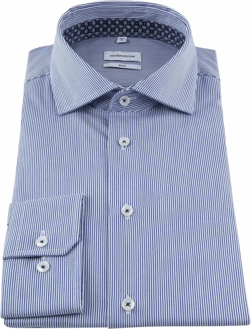 Seidensticker Overhemd Strepen Blauw foto 2