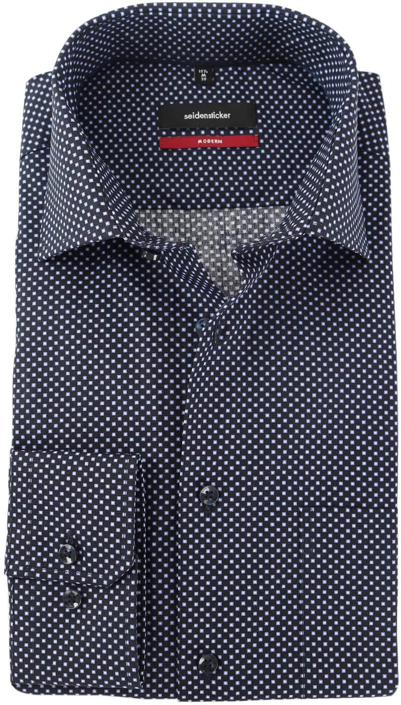 Seidensticker Overhemd Zwart Print  online bestellen | Suitable