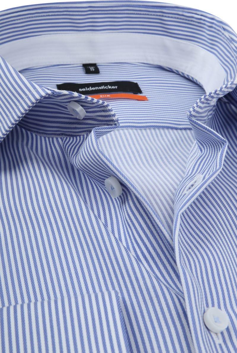 Seidensticker SF Overhemd Strepen Blauw foto 1