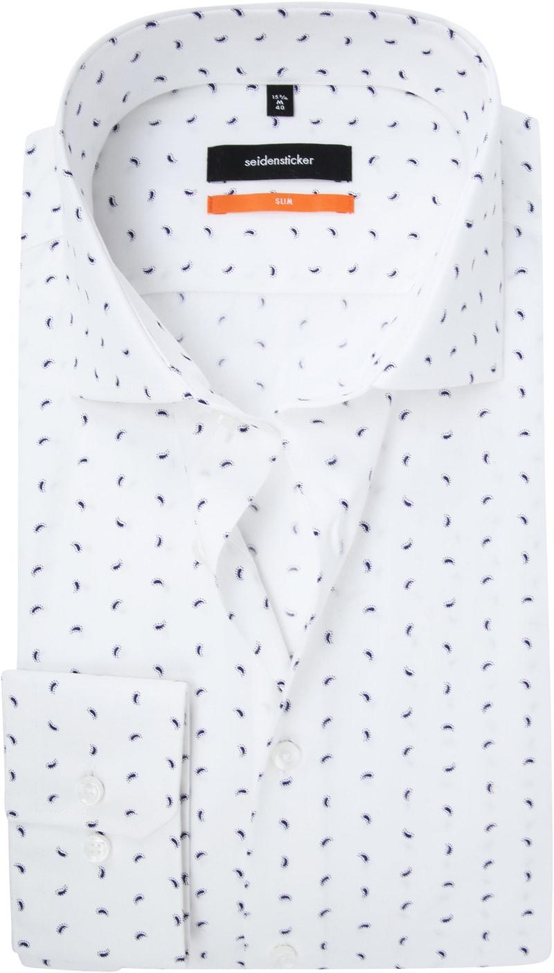 Seidensticker SF Overhemd Wit Dessin foto 0