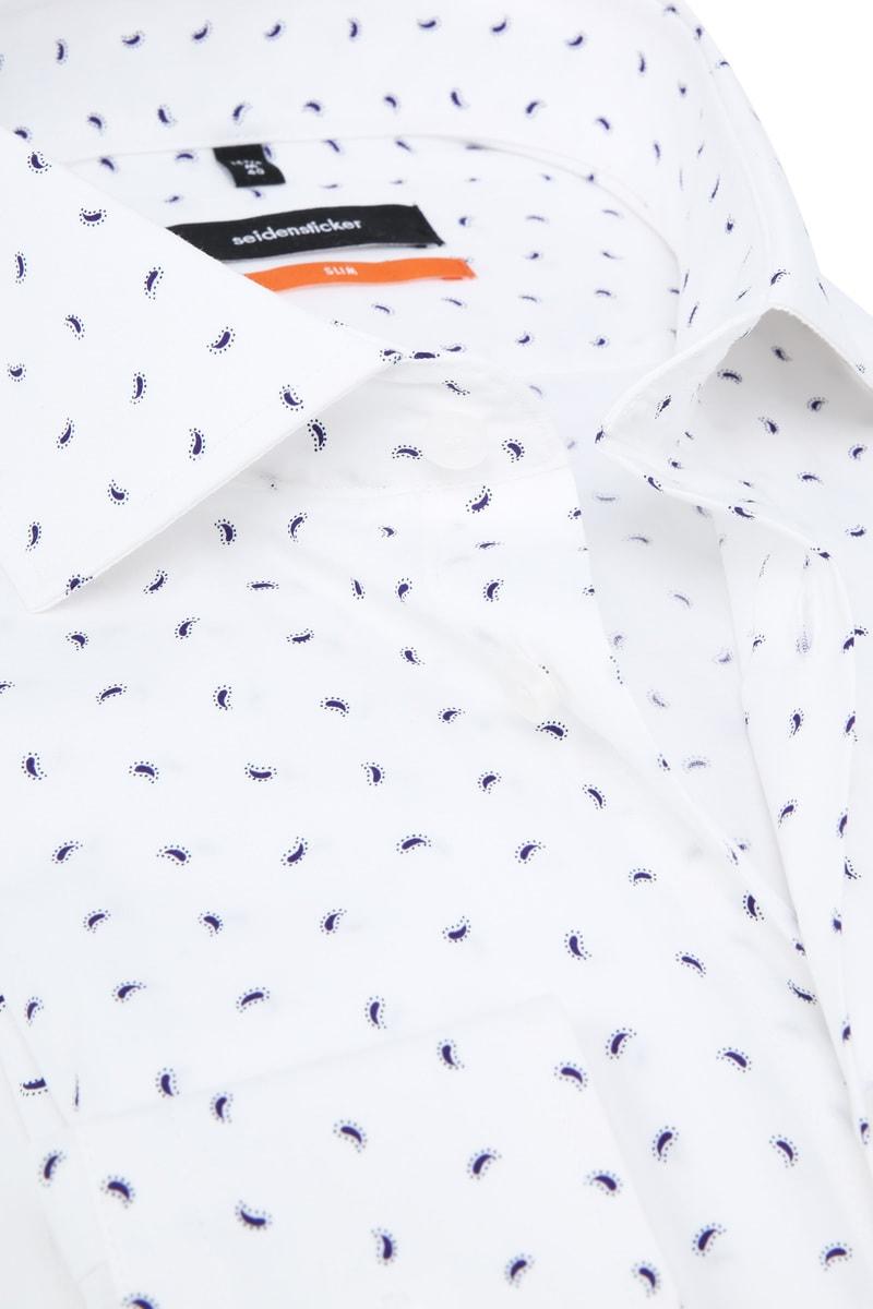 Seidensticker SF Overhemd Wit Dessin foto 1
