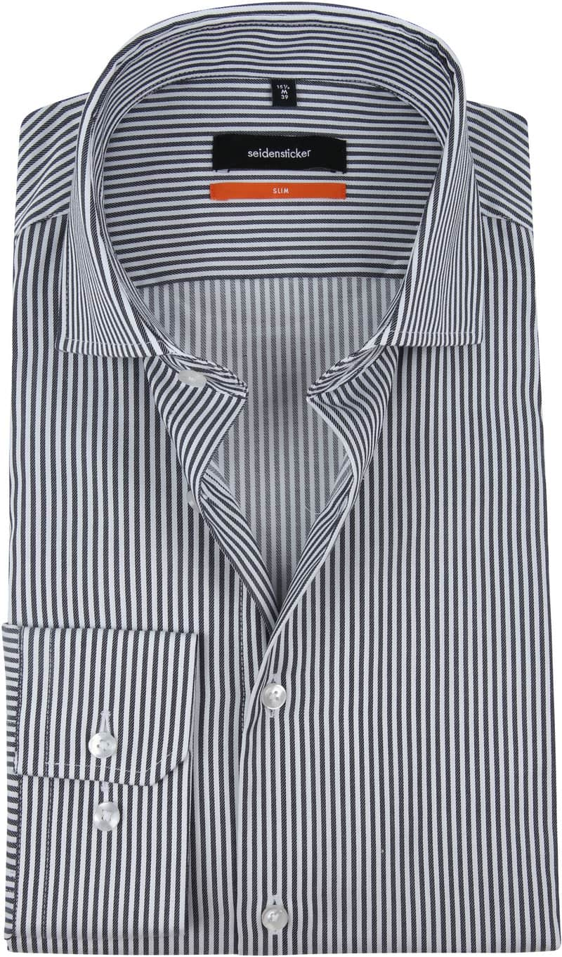 Seidensticker SF Shirt Stripes Navy photo 0