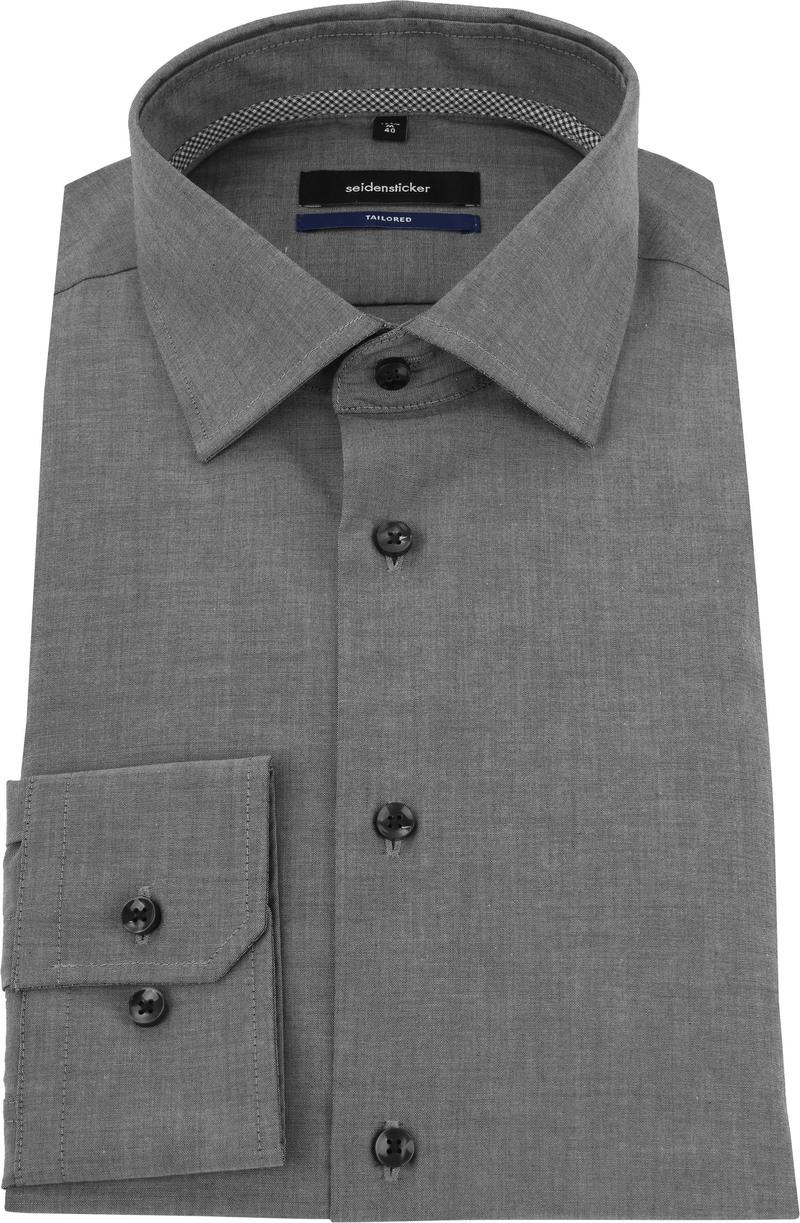 Seidensticker Shirt Non Iron Dark Grey photo 2