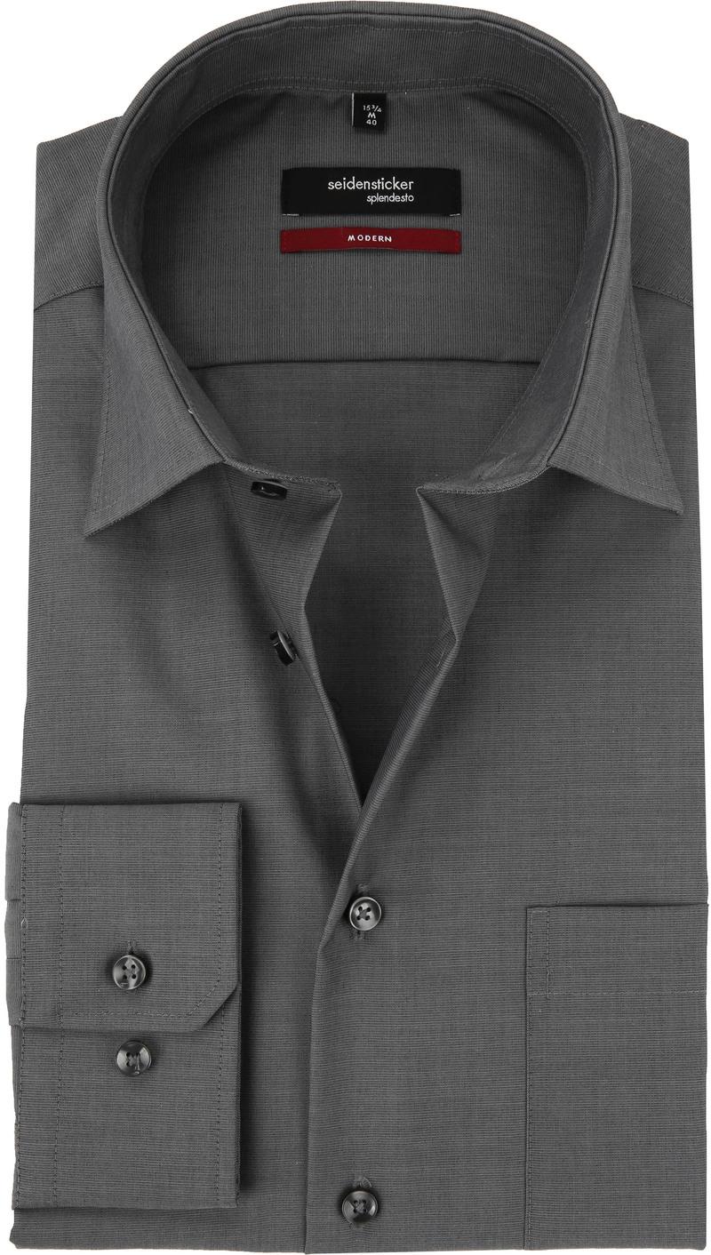 Seidensticker Shirt Regular Fit Dark Grey