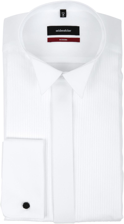 Seidensticker Smoking Shirt Plisse MF - Wit maat 47