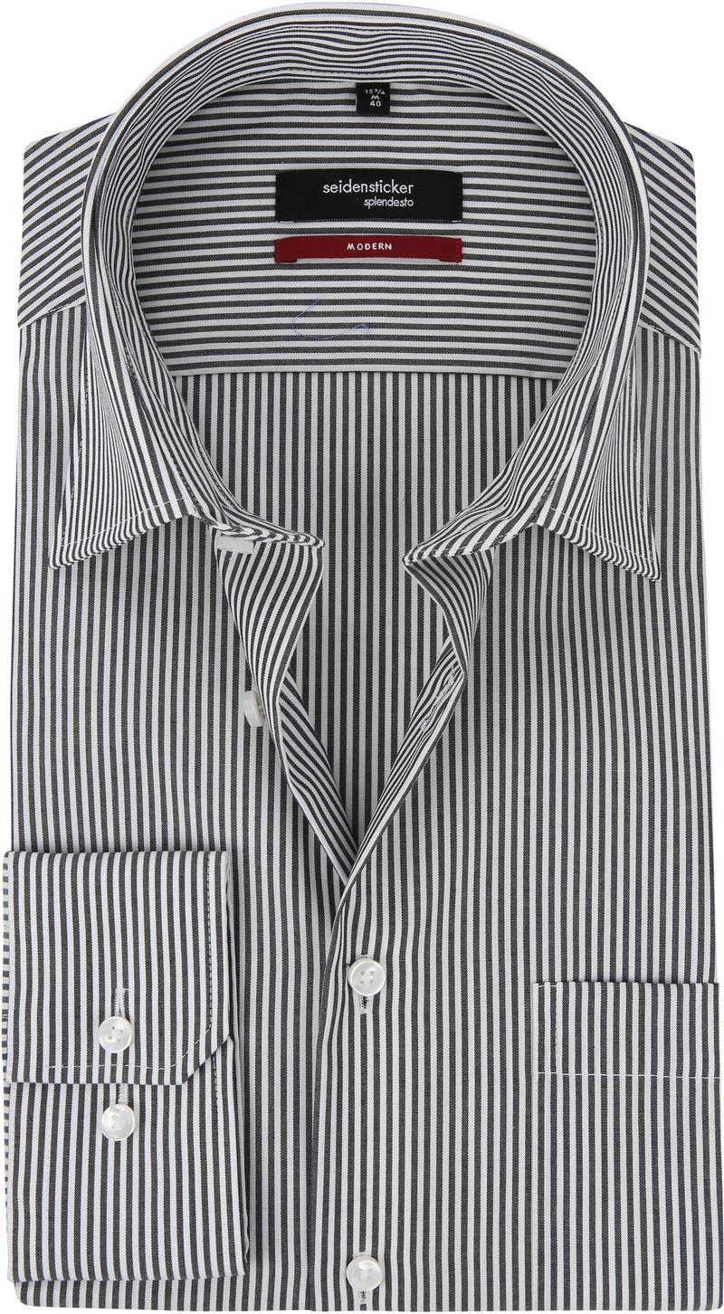 Seidensticker Splendesto Black White Striped