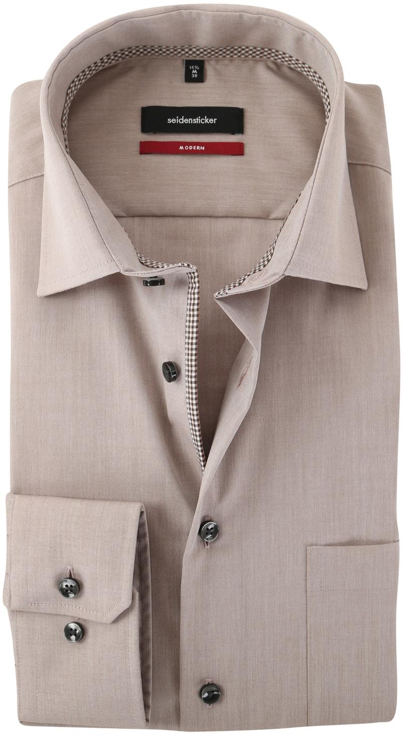 Seidensticker Strijkvrij Overhemd Bruin  online bestellen | Suitable