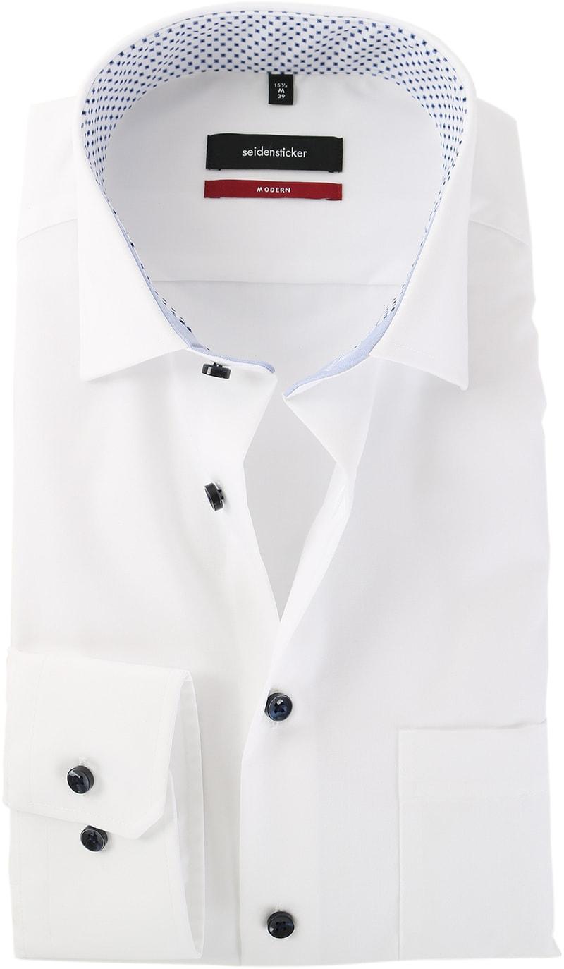Seidensticker Strijkvrij Overhemd Wit  online bestellen | Suitable