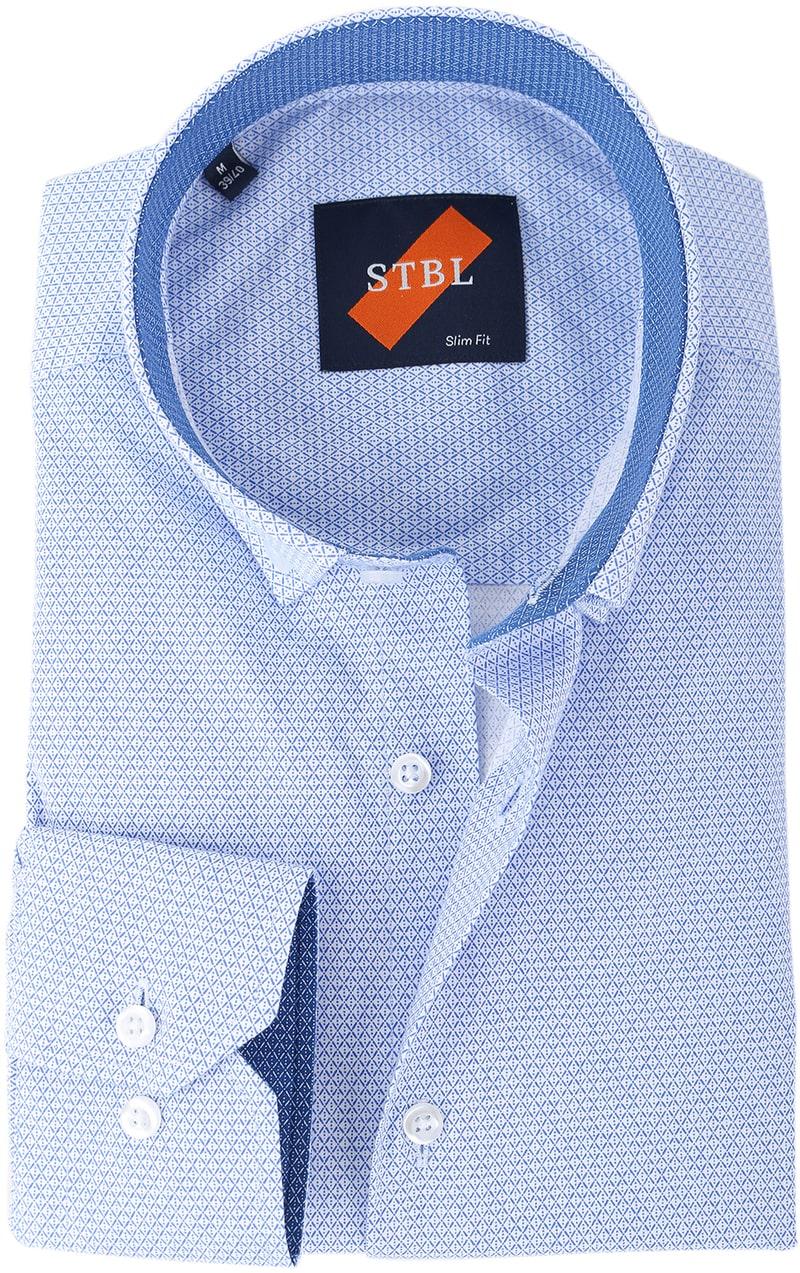 Shirt Suitable S2-1 Wit Blauw Print  online bestellen | Suitable