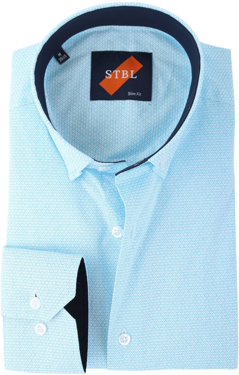 Shirt Suitable S2-3 Licht Blauw Wit foto 0