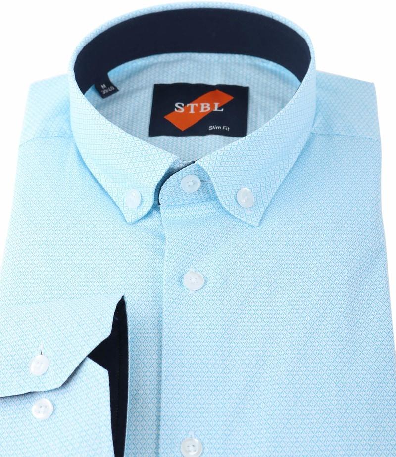Shirt Suitable S2-3 Licht Blauw Wit foto 1