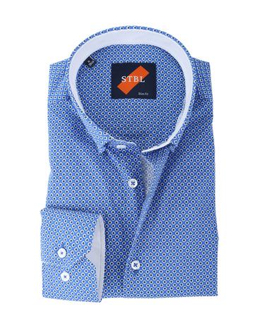 Shirt Suitable S2-5 Blauw Wit  online bestellen | Suitable