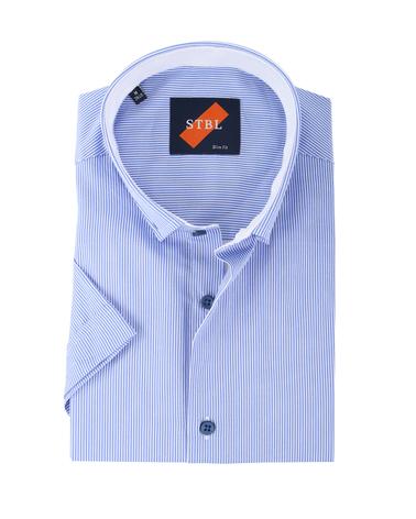 Shirt Suitable S3-6 Wit Blauw Korte Mouw  online bestellen | Suitable