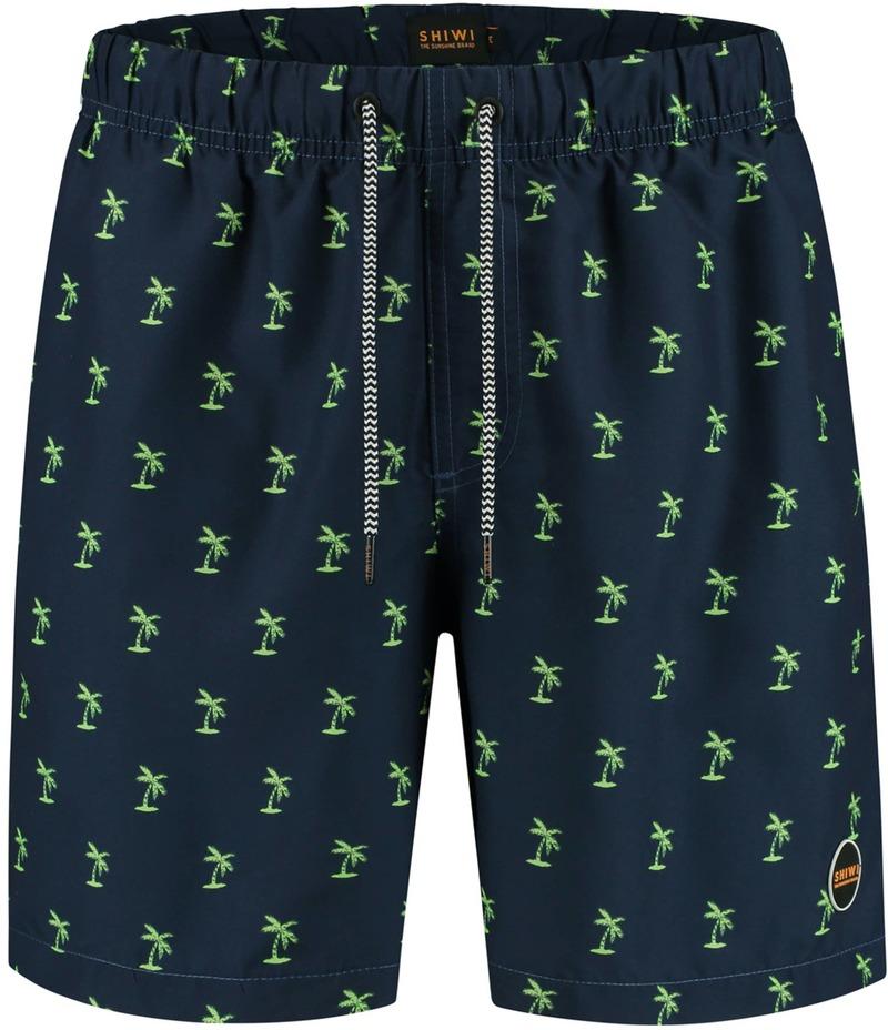 Shiwi Zwembroek Palmbomen Navy Groen - Donkerblauw maat XXL