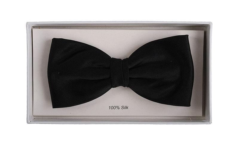 Silk Bow Tie Black F08