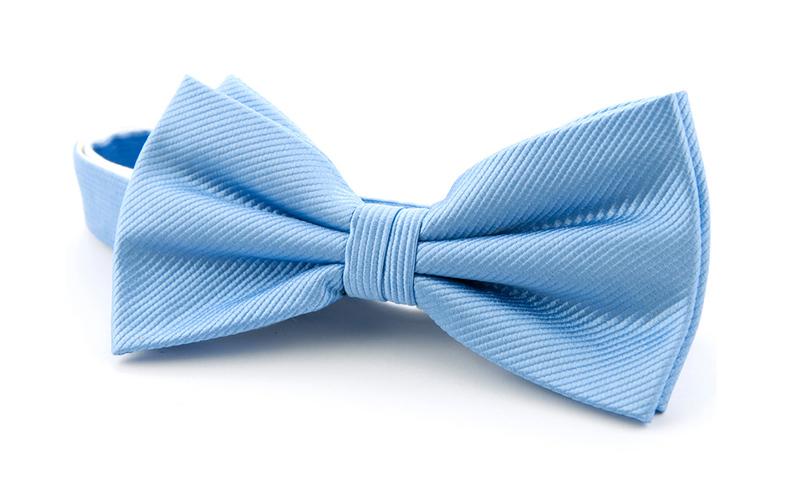 Silk Bow Tie Blue F02