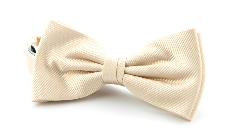 Silk Bow Tie Champagne F10 photo 0