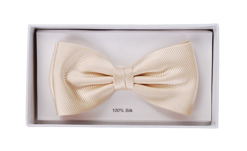 Silk Bow Tie Champagne F10 photo 1