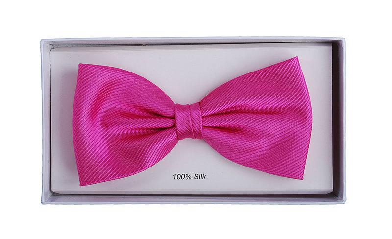 Silk Bow Tie Fuchsia F21
