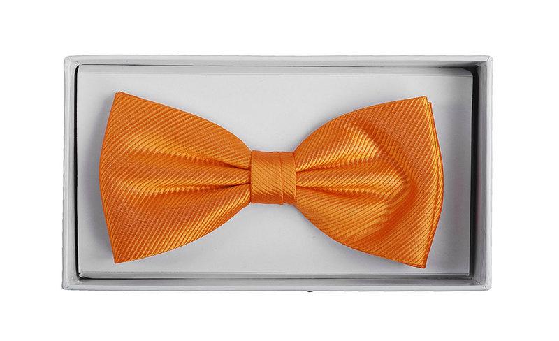 Silk Bow Tie Orange F01